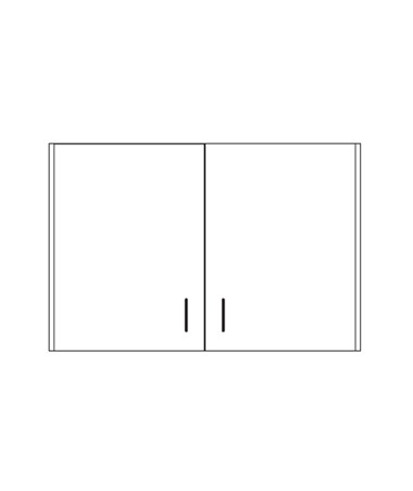 Clintonclean™ Wall Cabinet with 2 Doors CLI8236-P