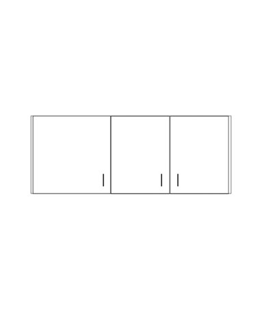 CLI8254-P-Clintonclean™ Wall Cabinet with 3 Doors - 8260-P Wall Cabinet
