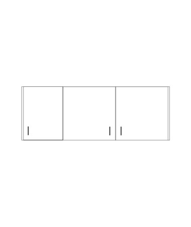 CLI8254-P- Clintonclean™ Wall Cabinet with 3 Doors - 8266-P Wall Cabinet