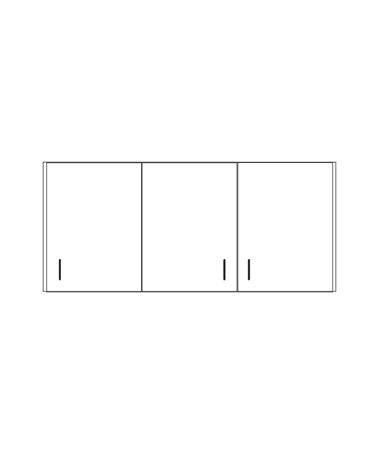 Clintonclean™ Wall Cabinet with 3 Doors CLI8254-P