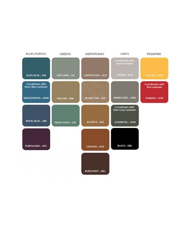 CLI8850- Space Saver H Base Treatment Table - Upholstery Color Options