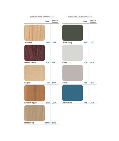 CLI8850- Space Saver H Base Treatment Table - Laminate Color Options