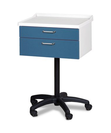 Molded Top, Mobile Equipment Cabinet with 2 Drawers CLI8923-A-