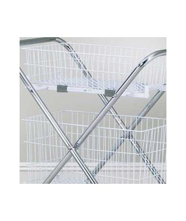 "6"" Wire Basket (Compatible with Clinton Folding Cart) CLITB-203"