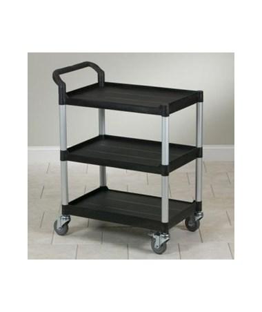 Value Black Plastic Utility Cart CLITC-60