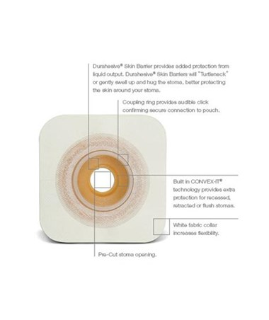 SUR-FIT Natura Durahesive Skin Barrier with CONVEX-IT Features