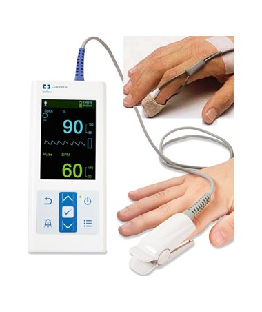 Nellcor™ Portable SpO₂ Patient Monitoring System with Adult Sensor and Pediatric Sensor, PM10N-NA, PM10N-PDN