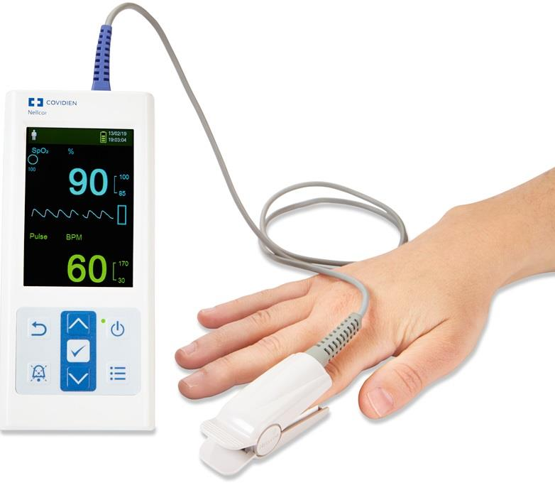 Nellcor™ Portable SpO₂ Patient Monitoring System with Adult Sensor, PM10N-NA