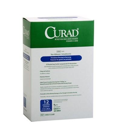 Curad Sterile Overwrap Petrolatum Gauze CUR251336W