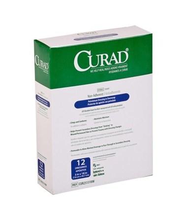 Curad Sterile Overwrap Petrolatum Gauze CUR251318W