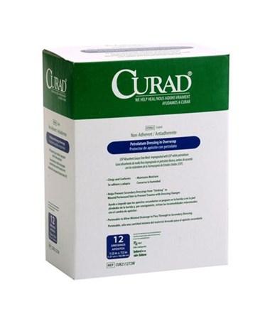 Curad Sterile Overwrap Petrolatum Gauze CUR251272W