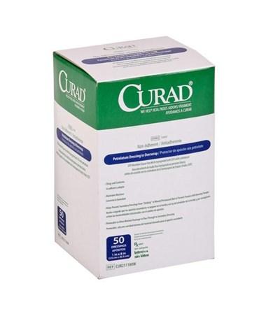 Curad Sterile Overwrap Petrolatum Gauze CUR251180W