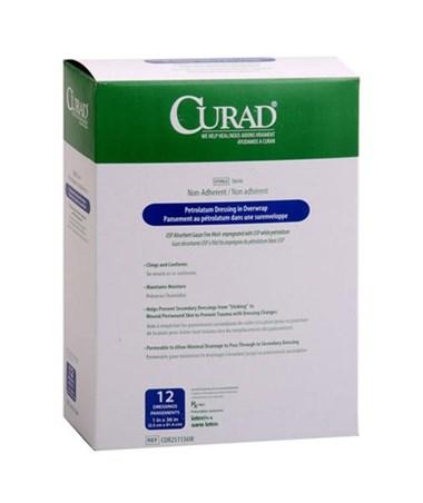Curad Sterile Overwrap Petrolatum Gauze CUR251136W