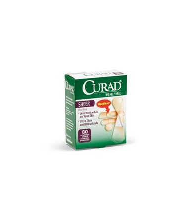 Sheer Adhesive Assorted Size Bandages CURCUR45243-