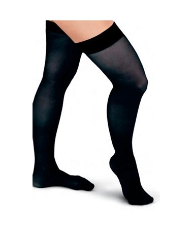 Black 20-30 mmHg Knee Length Compression Hosiery CURMDS1703ABSH-