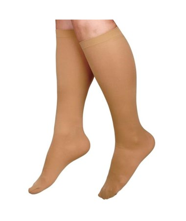 Beige 30-40 mmHg Knee Length Compression Hosiery CURMDS1704ATH-