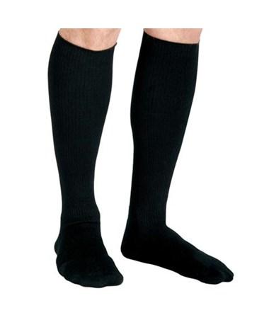 Curad Black 15-20 mmHg Knee Length Compression Socks