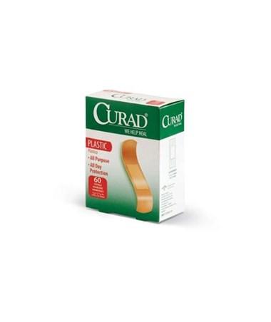 """Curad Plastic Adhesive Bandages Classic Care .75"""" x 3"""""""