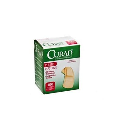 "Curad Plastic Adhesive Bandages .75"" x 3"""