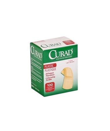 "Curad Plastic Adhesive Bandages 1"" x 3"""
