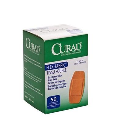 "Curad Fabric Adhesive Bandages 2"" x 4"""