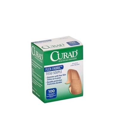 "Fabric Adhesive Bandages 1""x3"", Sterile, Latex Free CURNON256"