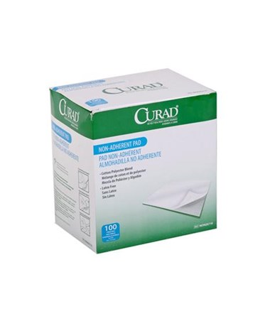"Curad Sterile Non-Adherent Gauze Pads 4"" x 3"""