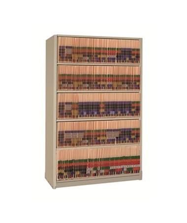 "Datum 4Post™ Letter-Size Shelving System 64-1/4"" High - 5 Openings"