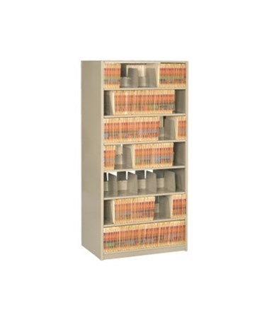 """4 Post Double Entry Shelving 88-1/4"""" High, 6 to 8 Tiers DAT882424-S6-"""