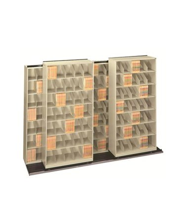 "Datum ThinStak® BiSlider™ Letter-Size Filing System - Seven 36"" Units with 7 Tiers"