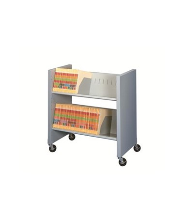 Datum Datum FileCart™ - 2-Shelf Letter/Legal with End Panels