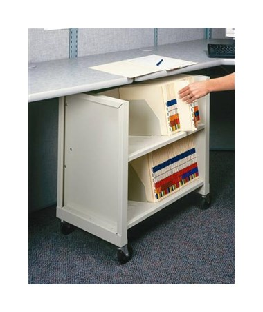 Datum FileCart™ - 2-Shelf Letter-Size MiniCart with End Panels