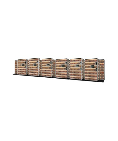 4 Post Trislider Filing System 19 Units - 7/6/6 DATT676LT-4P7-