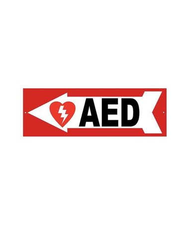 DEFDAC-230- AED Wall Signs - Left Arrow Sign