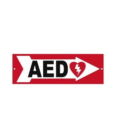 DEFDAC-230- AED Wall Signs - Right Arrow Sign