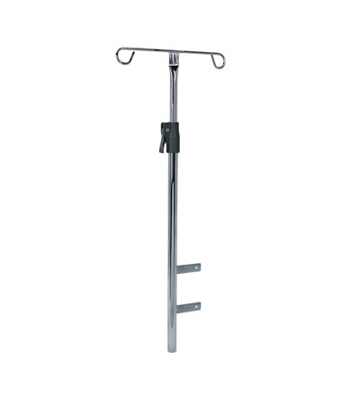 Adjustable Chrome IV Pole for Rescue & Whisper Medical Carts DETCAIP