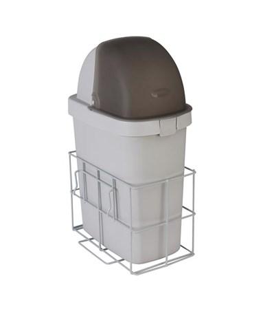 Waste Bin w/ Accessory Rail for Rescue Medical Carts DETCARCWB