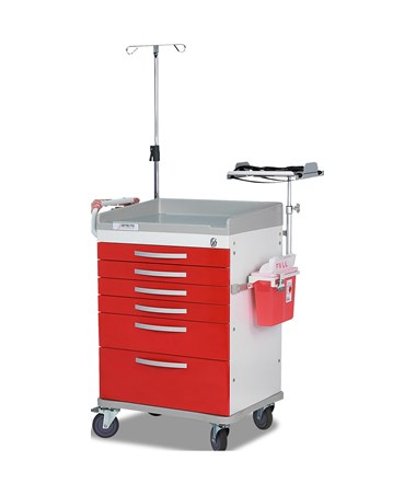 Rescue Series Emergency Room Medical Cart, Red DETRC33669RED-