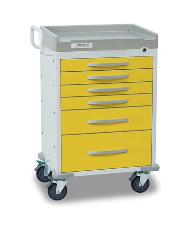 Rescue Series Isolation Medical Cart, Yellow DETRC33669YEL-