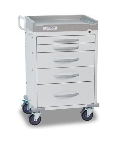 Whisper Series General Purpose Medical Cart, White DETWC33669WHT