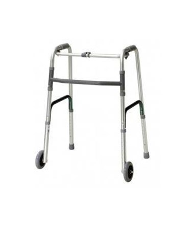 "Deluxe One-Button Folding Walker with 5"" Wheels MED10212-2"
