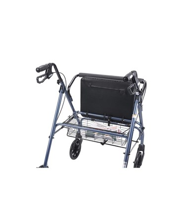 """Drive 10215BL-1 Go-Lite Bariatric Steel Rollator, Padded Seat, 8 Casters with Loop Locks""