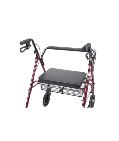 """""""Drive 10215RD-1 Go-Lite Bariatric Steel Rollator, Padded Seat, 8 Casters with Loop Locks """""""