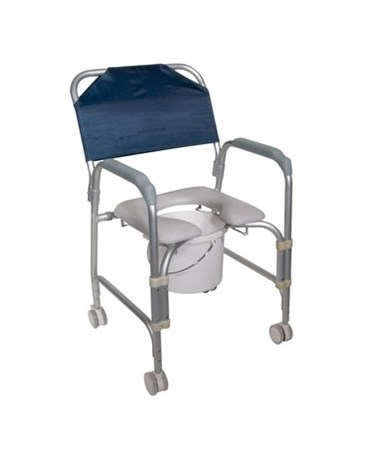 Drive 11114KD-1 Aluminum Shower Chair And Commode With Casters