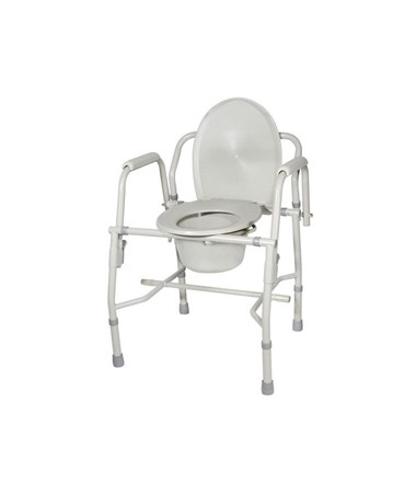 """Drive 11125KD-1 Steel Drop-Arm Commode, Tool Free Knock Down Frame"""