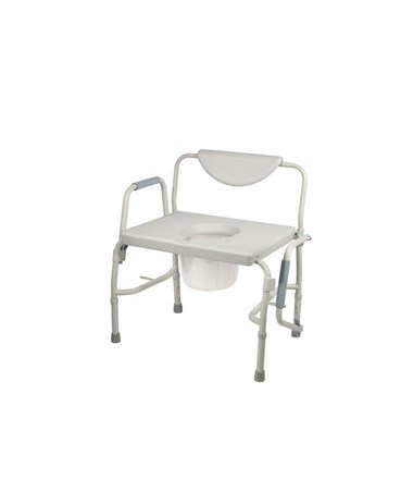 """Drive 11135-1 Deluxe Bariatric Drop-Arm Commode"""