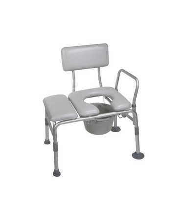 Drive 12005KDC-1 Combination Padded Transfer Bench and Commode