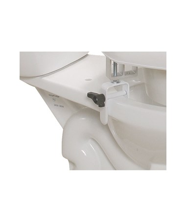 """Drive 12030 Padded Raised Toilet Seat with Four Locking Brackets"""