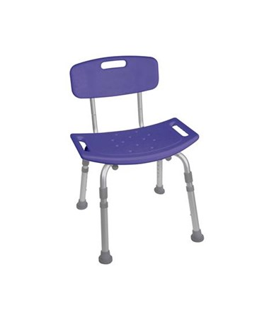 """""""Drive 12202KDRB-1 Bath Bench with Back, Blue"""""""