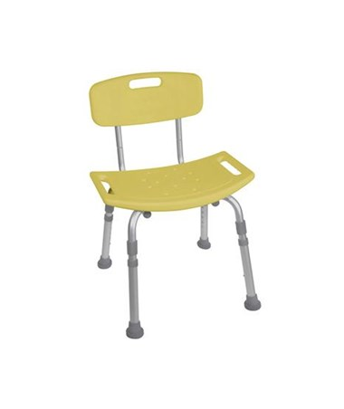 """Drive 12202KDRY-1 Bath Bench with Back, Yellow"""